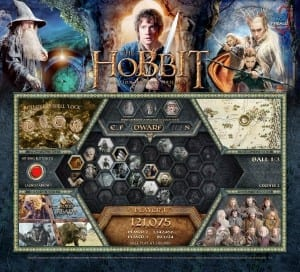 The Hobbit Pinball Machine Backglass