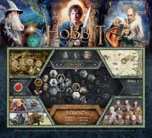 The Hobbit Pinball Machine Backglass