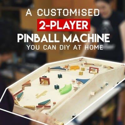 A Customized 2 Player Pinbal Machine You can DIY at Home Featured